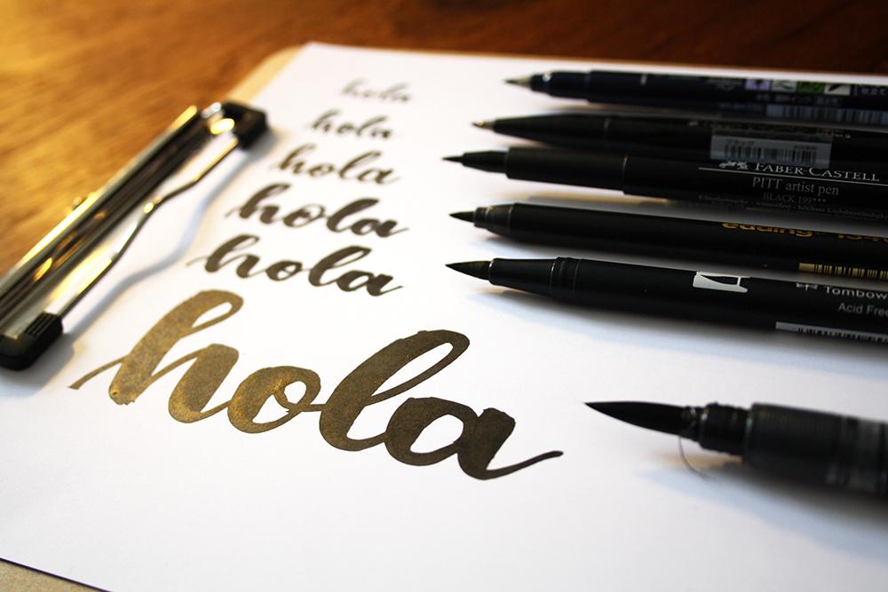 Frau Maravillosa Handlettering Materialtipps