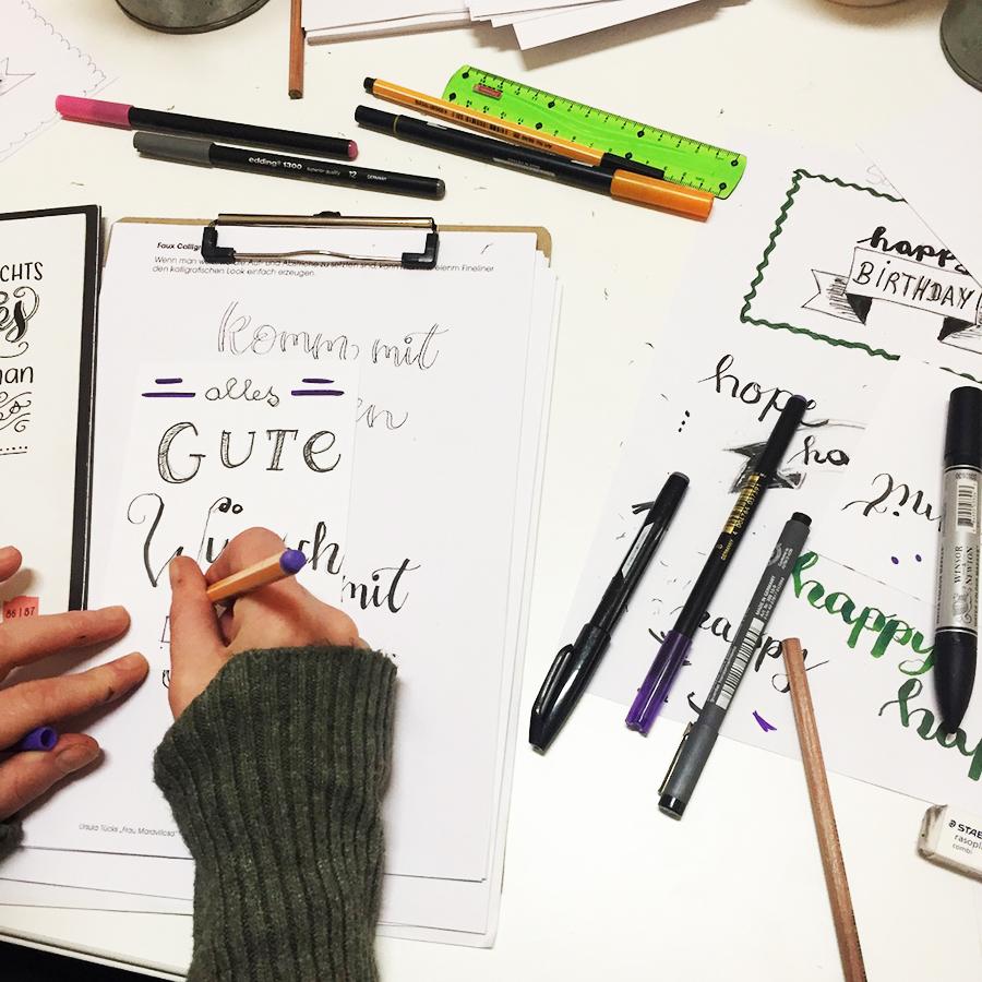 Handlettering kreativ Workshop