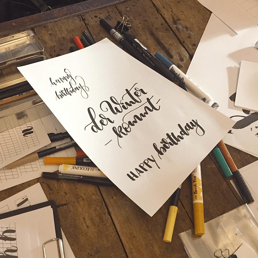 Lettering Schnörkel Brushlettering
