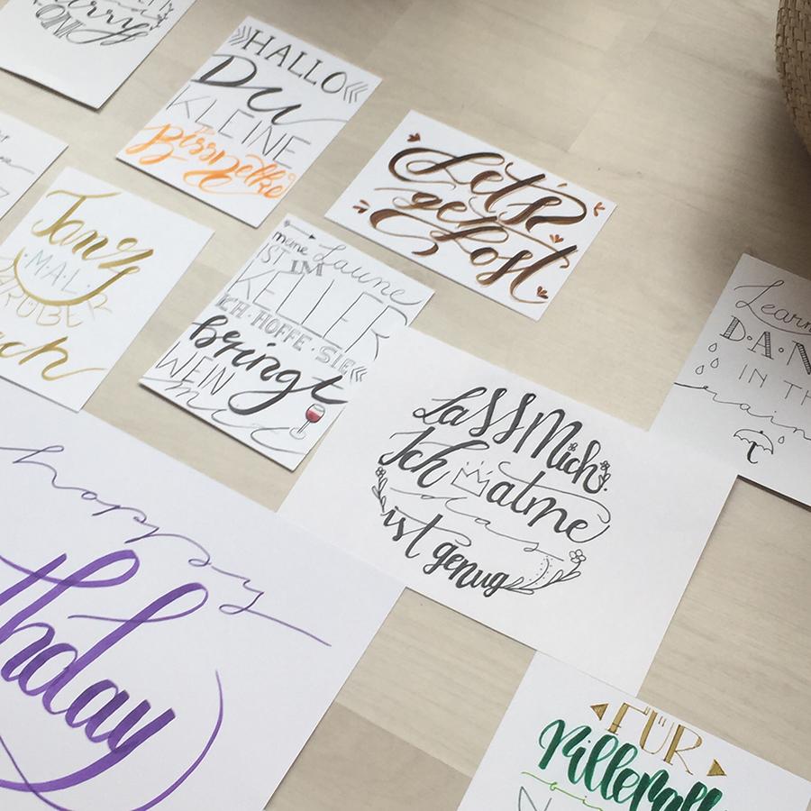 Lettering Fortgeschrittene Workshop