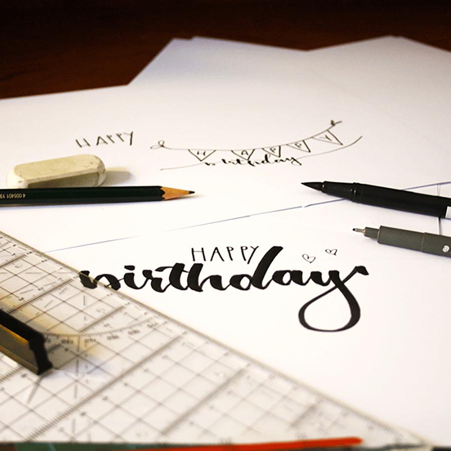 Letteringmaterial Brushlettering Material