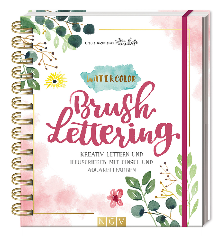 Frau Maravillosa Watercolor Brush Lettering NGV Verlag