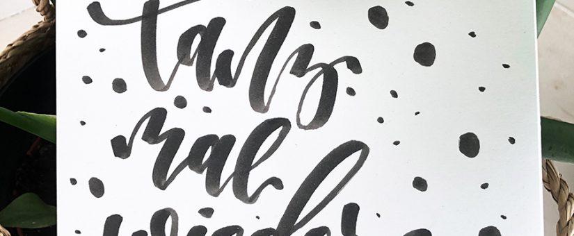 Lettering – Die Kunst der schönen Buchstaben