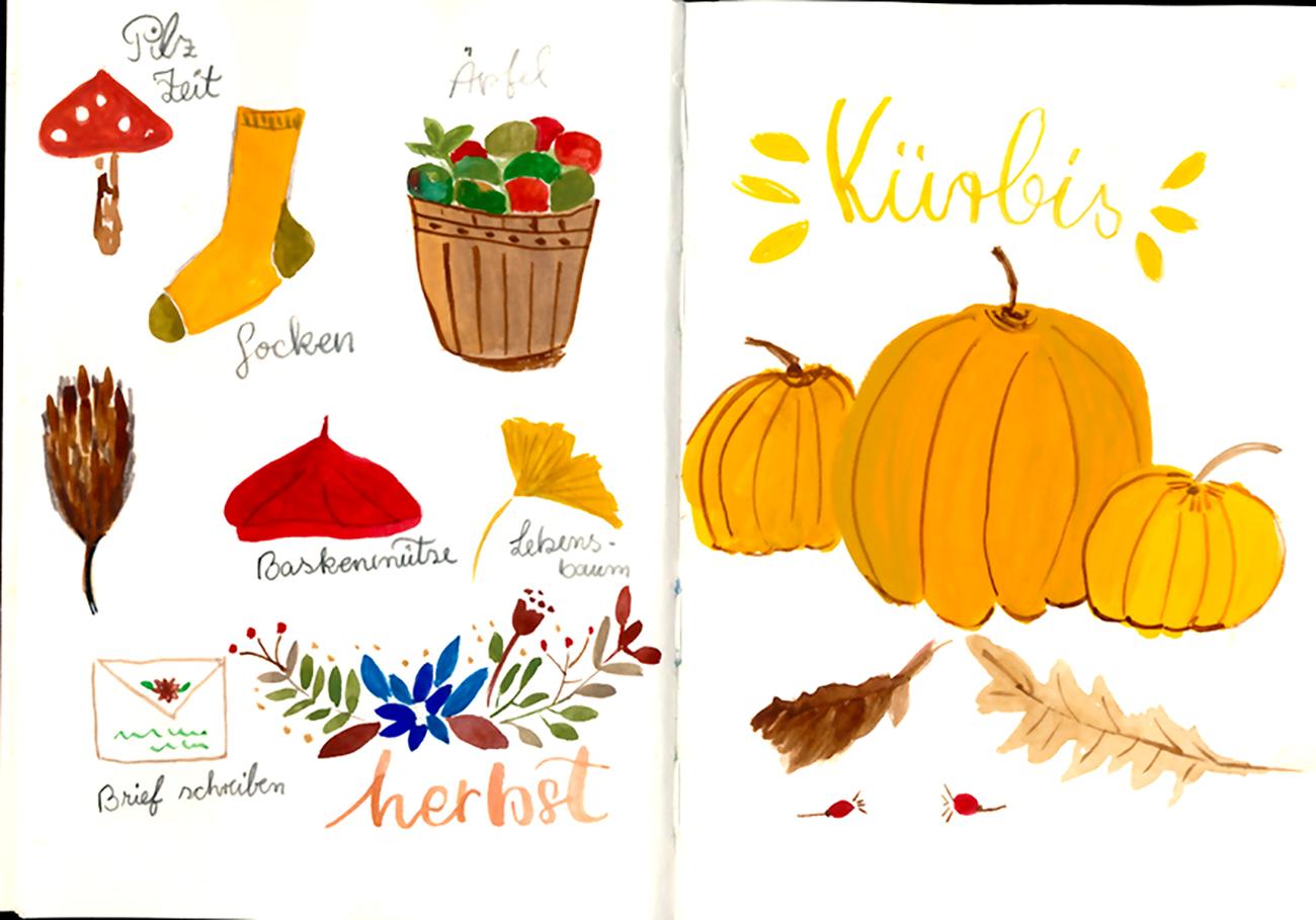 Herbst Ideen Skizzen