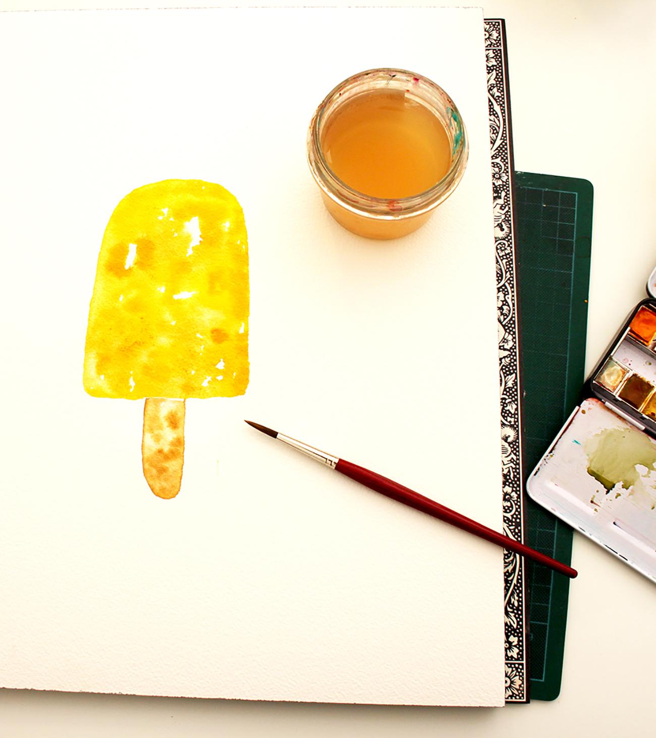 einfache Motive mit Aquarellfarbe malen lernen