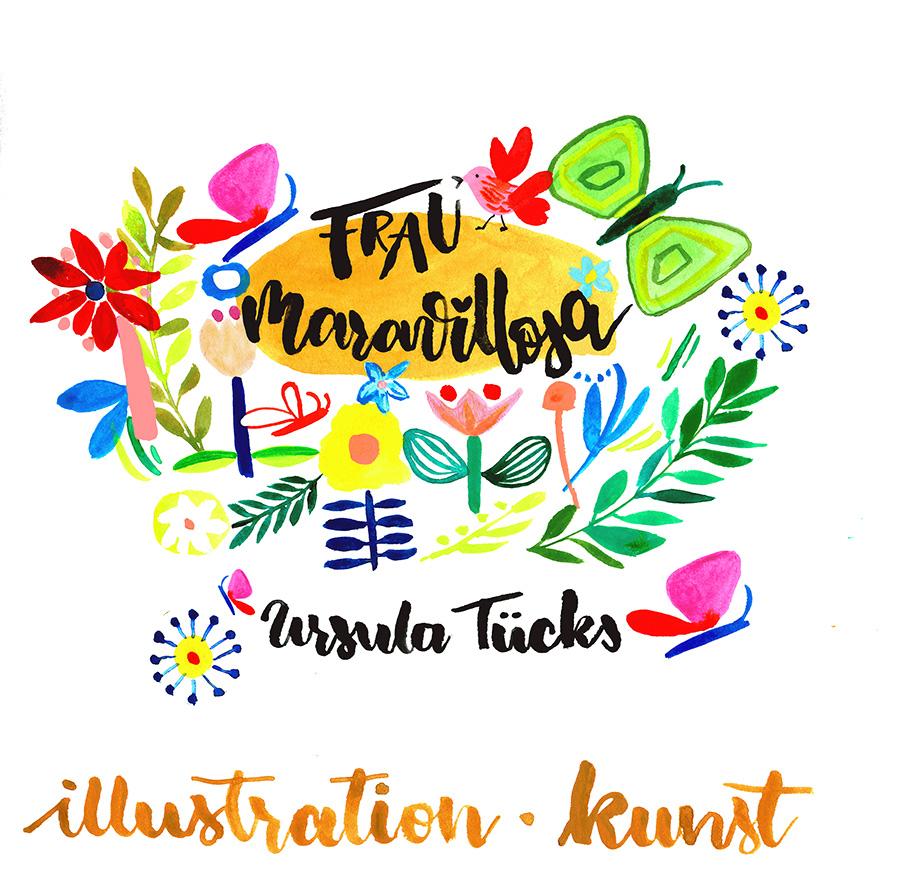Logo, Frau Maravillosa, Ursula Tuecks, Illustrationen und Kunst, Illustratorin