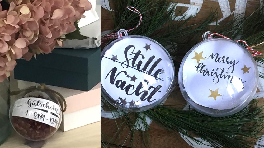 Weihnachtsgeschenke mit Brush Lettering