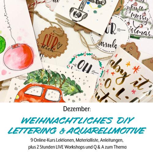 Weihnachten, Anleitungen DIY fuer Lettering