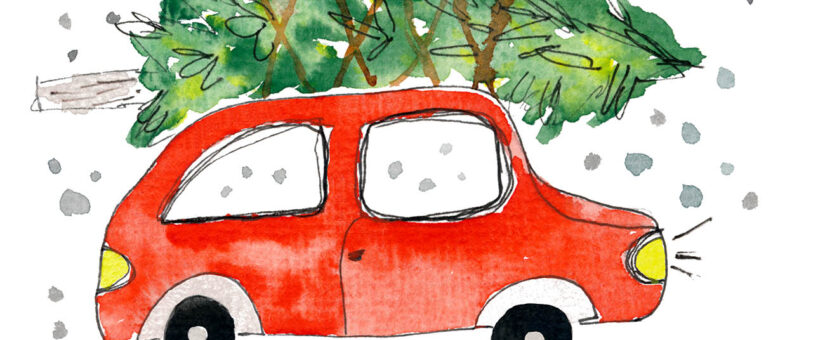 Aquarell malen für Weihnachtskarten einfach gemacht – mit YouTube-Tutorial