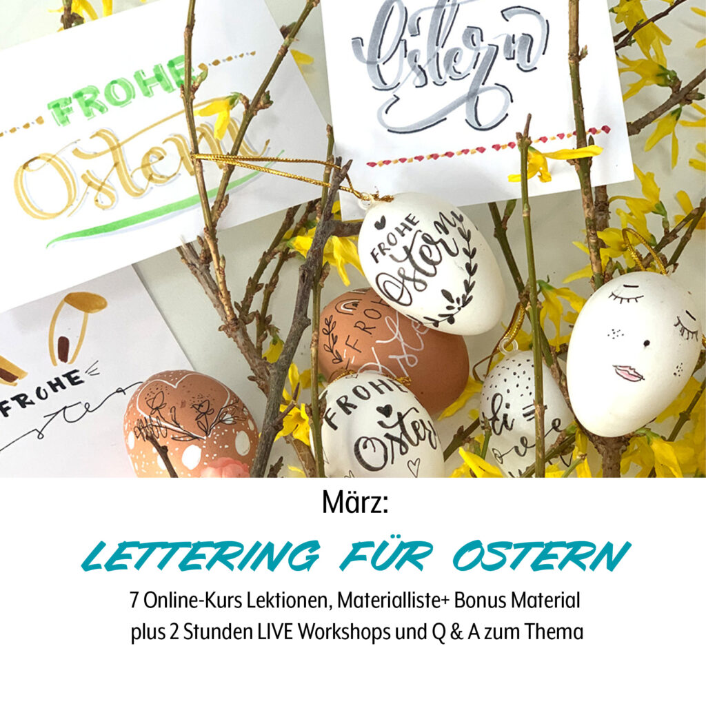 Bunte Laune Club, Oster Lettering