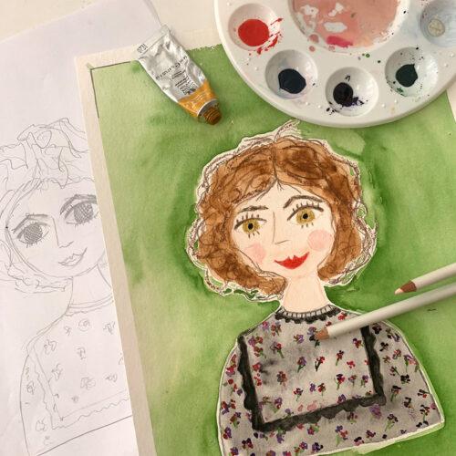 Porträtmalerei mit Aquarell – was du dazu wissen musst, erfährst du im Bunte Laune Club.