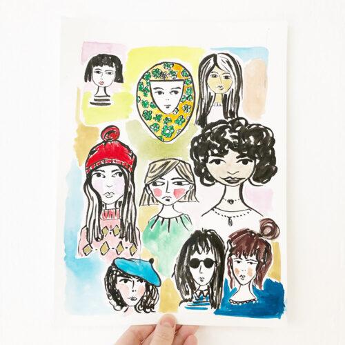 Ich liebe Porträtmalerei – ganz besonders haben es mir Frauenporträts angetan.