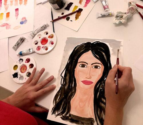 Bei der Porträtmalerei macht uns unser eigener Perfektionismus oft einen Strich durch die Rechnung.