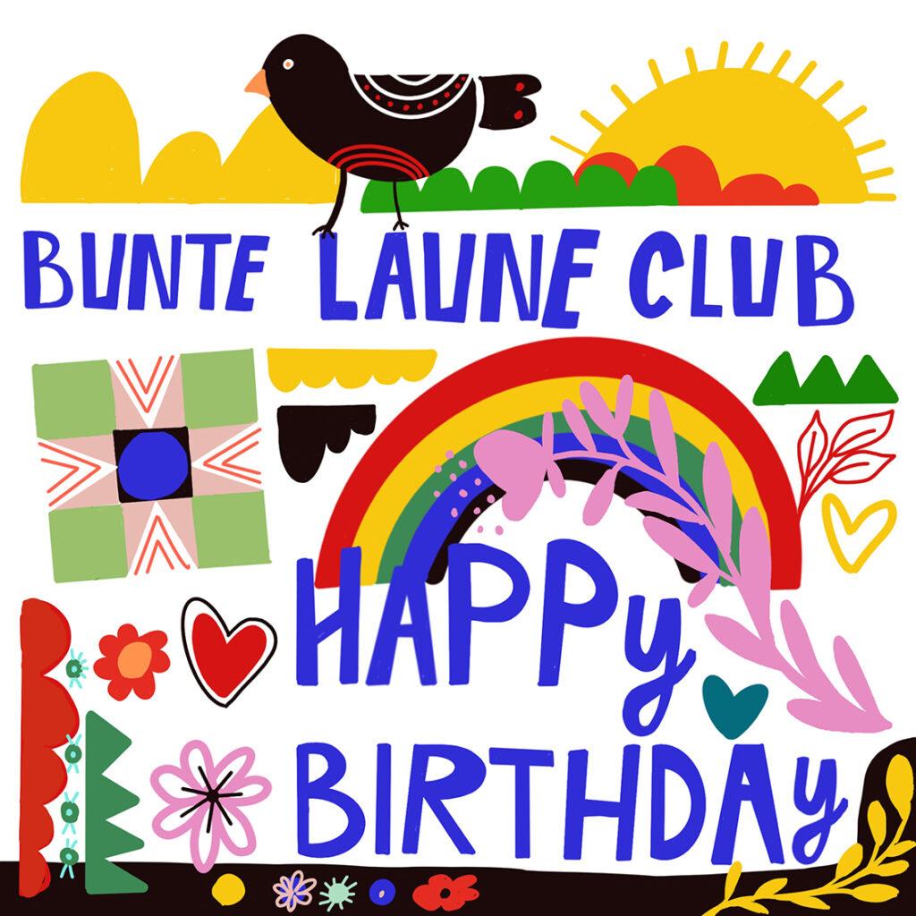Bunte Laune Club Geburtstag
